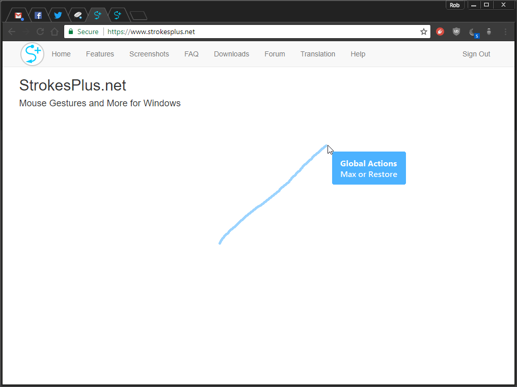StrokesPlus full screenshot